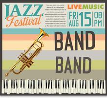 Ilustração em vetor festival jazz