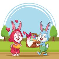 Happy easter cartoon