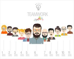 Brainstorming business concept design moderno infográfico