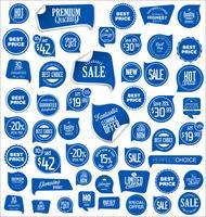 Moderne badges stickers en labels collectie