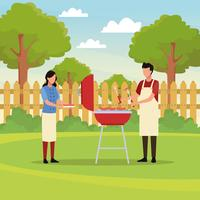 Family barbecue picnic