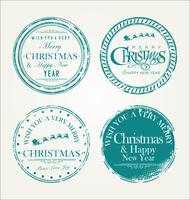 Merry Christmas grunge rubber stamp vector