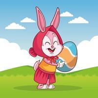 Desenhos animados de Páscoa feliz