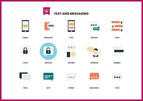 Ícones de texto definido para negócios