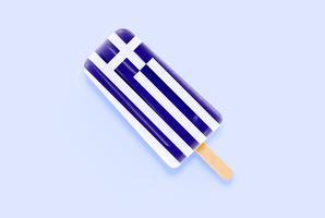 Bandera realista colorido helado, ilustración vectorial