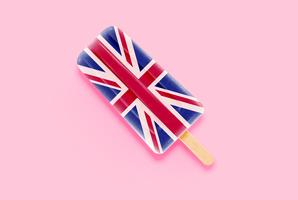 Colorful realistic flag ice cream, vector illustration