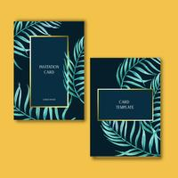 Tropical Card invitatoin design summer with plants foliage exotic, creative watercolor vector illustration template design