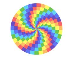 rainbow color circle