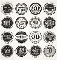 Étiquettes et badges rétro
