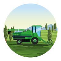 Tractor de siembra agrícola