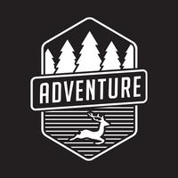 Logo e badge Adventure, ottimi per la stampa