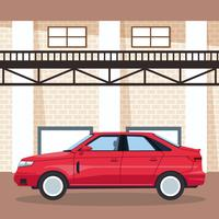 Car garage shop vector