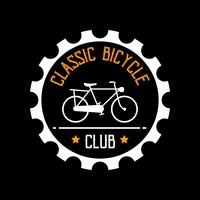 Badge et logo de bicyclette, bon pour l'impression