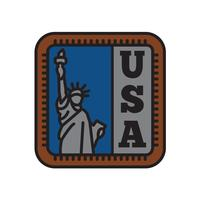 Collezioni di badge per paese, simbolo della libertà del grande paese