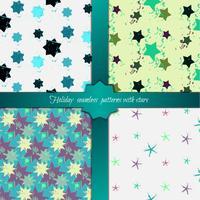 Jeu de motifs géométriques sans soudure colorés grunge