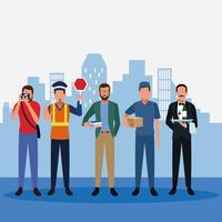 Ensemble d'emplois et d'occupation