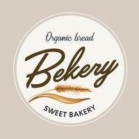 Logo symbool bakkerij sjabloon. Brood en broodjescollectie. zelfgemaakte, creatieve aquarel vector illustratie ontwerp