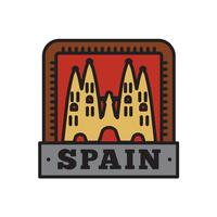 Country Badge Collections, Spain Symbol of Big Country