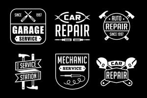 Logotipo y placa del mecánico, buena para imprimir.