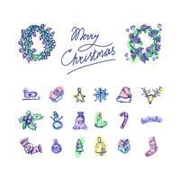 Joyeux Noël icônes