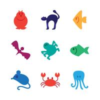 Dieren icons set vector