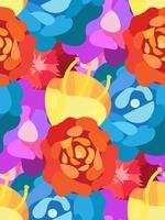 Vintage blommor sömlösa mönster