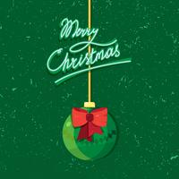 Hand written lettering of Merry Christmas vintage text