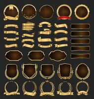 Luxuxprämie goldene Abzeichen und Kennsätze