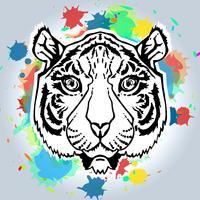 lijntekeningen tijger