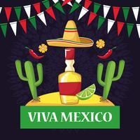 Viva Mexiko Kartenkarikaturen