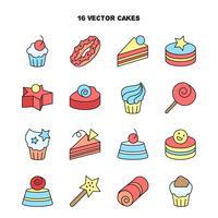 Collection d'icônes de boulangerie et de gâteau. Candy, doux ensemble