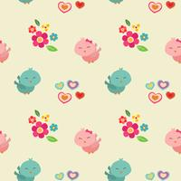 cute couple bird valentine pattern