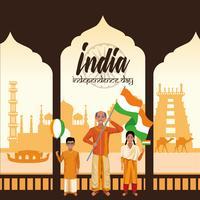 Tarjeta del día de la independencia de la india