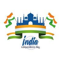 Carte de fête de l'indépendance de l'Inde