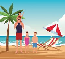 vakantie op het strand