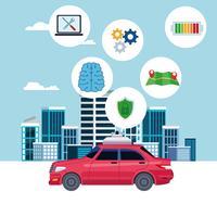 concepto de ubicación de servicio de coche de taxi