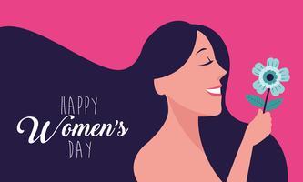 Tarjeta feliz día de la mujer