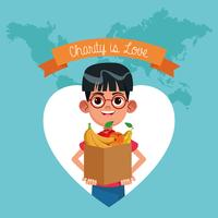 Charity is love cartoon vector