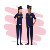 Police officers Job and workers vector