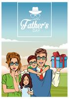 Happy fathers day card vector