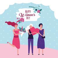 Gelukkige vrouwendag kaart