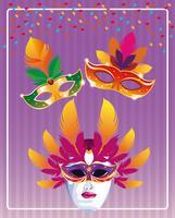 Mardi gras-maskers