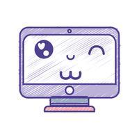 Kawaii carino monitor divertente schermo