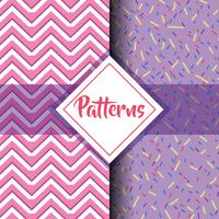 set patterns geometric modern graphic background design