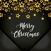 merry christmas stars poster decoration vector