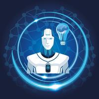 robot med konstgjord intelligens