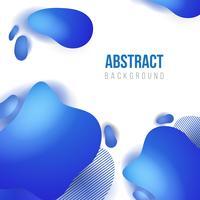 Abstrakt vätskeblå bannerbakgrundsmall. vektorillustration