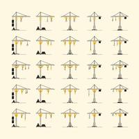 Collection of various crane styles. EPS10, VECTOR, Illustration vector
