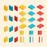 Collection of flat design and isometric books. EPS10, VECTOR, Illustration