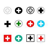 Symbole markiert Krankenhaus